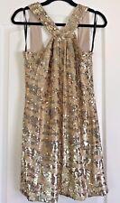 NWT $495 Rachel Zoe Sz M Gold Sequins Lined Shift Party Cocktail Dress Medium