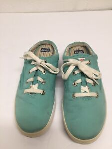 Keds Womens Sz 7 Comfy Mint Green Backless Slip On Lace Up Sneakers