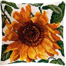 "Needlepoint Cross Stitch Pillow Cover DIY Kit ""Sunflower"""