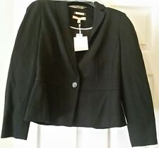 Talbot's Petite Size 6 Black Jacket. NWT  Fabric made in Italy. Black