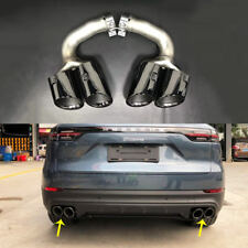 STAINLESS STEEL EXHAUST TIPS MUFFLERTAIL ENDS  BLACK FOR PORSCHE CAYENNE 2018