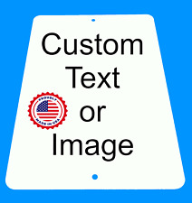 """Personalized 8"""" x 12"""" Aluminum Metal Sign Customize with Text or Picture"""