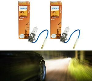 Philips Rally Vision H3 100W Two Bulbs Fog Light Replace High Wattage Stock Lamp