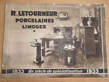 rare catalogue luxe porcelaines de Limoges  année 1933 ( ref 18 )