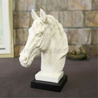 Horse Head Bust Statue Ornament Sculpture Figurine Home Feature Display  **
