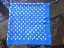 N10 FOULARD FILLE FILLETTE Coton imprimé  VINTAGE 70  Girl Scarf cotton printed