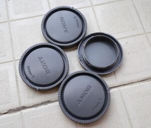 3x Rear Lens Cap+ 1x Body Cap Cover Dust Protection for Sony E-mount NEX NEX-3