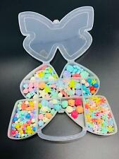 Girls Kids Necklace Bracelet Make Own Beads Jewelry Making Set Box Kit