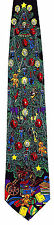 Victorian Chirstmas Mens Neck Tie Xmas Neck Tie Holiday Tree Presents Gift New