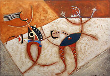 "Diana Hansen ""Graffiti Frolicking in Pompeii"" Original Hand Painted Art 1983"