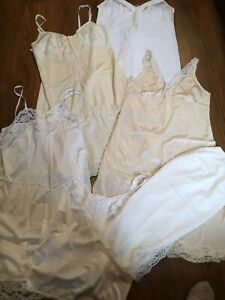 Job Lot Ladies Full Slips Vintage St Michael Bhs Sizes 18-22 excellent condition