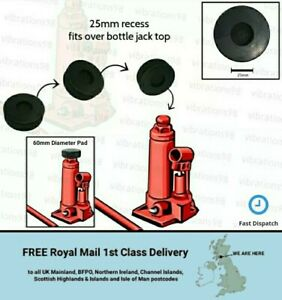 Medium Sized 60mm Bottle Jack Rubber Pad with 25mm recess for a safer lift
