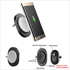 Qi Wireless Car Charger Air Vent Mount Phone Holder Stand Dock Pad For Samsung