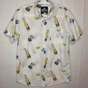 Corona Extra Beer Men's SS Hawaiian Polo Shirt Size M