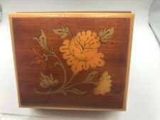 Mapsa Wooden with inlay, Music Box with Swiss Musical Movements, Edelweiss