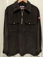 Vintage Polo Ralph Lauren Chaps Black Corduroy Skiing Patch Logo Long Sleeve Med