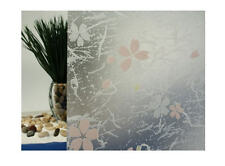 "Frosted Print Flowers Static Cling Window Film, 36"" Wide x 6.5 ft"
