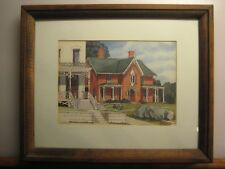 RARE:1976 Signed Carl Johnson Offset Lithograph  Print Of A House In Galena, IL.