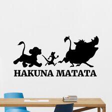 Hakuna Matata Wall Sticker Lion King Vinyl Sticker Cartoons Kids Room Decor Art