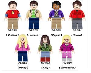 NEW MINIFIGURES lego MOC Super Heroes Big Bang Theory Figures Sheldon Leonard Ra