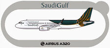 STICKER AUTOCOLLANT AIRBUS A320 SAUDI GULF