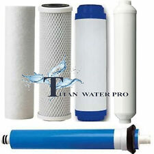 RO REVERSE OSMOSIS RO 5 FILTERS/MEMBRANE REPLACEMENT SET ~ TFC-2012-100 MEMBRANE