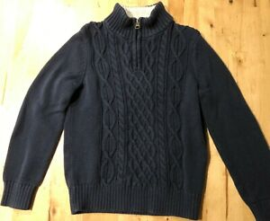 Lands End Boys Navy Sweater, size S 8