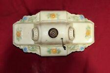 Vintage Porcelain Flower 2 Bulb Bathroom Kitchen Sink Stove Old Light Fixture