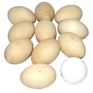 Wooden Easter Chicken Eggs (10)