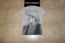 Dolce&Gabbana Black Label Runway JAMES DEAN T-shirt 50 IT (M-L) MadeInIT, RARE