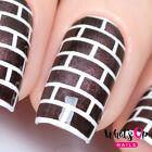 Bricks Stencils for Nails, Nail Stickers, Nail Art, Nail Vinyls