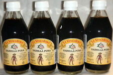 4 X La Vencedora Pure Mexican Vanilla Extract 4 Glass 8.45oz Bottles From Mexico