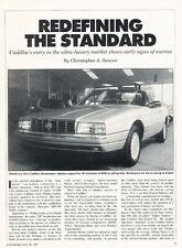 1987 Cadillac Allante - redefine standard -  Car Original Print Article J183