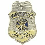 CHINO CALIFORNIA FIREFIGHTER FIRE DEPARTMENT BADGE PIN