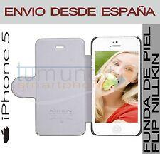 FUNDA FLIP NILLKIN PIEL NEGRA para IPHONE 5 / 5S CUERO en ESPAÑA
