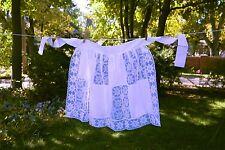 White Cotton Blend Lace Hostess Apron Vintage Style NIP