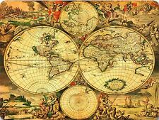 VINTAGE WORLD MAP  - QUALITY MOUSE MAT / PAD