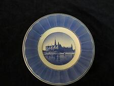 Vintage Kronborg Slot Castle Denmark Plate Aluminia Copenhagen Faience blue