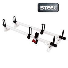 "60"" Steel ladder Roof Rack Van 2 bar racks M2000 WHITE Most Fits Makes & models"