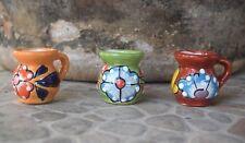 Pitcher Mini Ceramic 3 Pitchers Miniatures Talavera Home Kitchen Pottery Decor