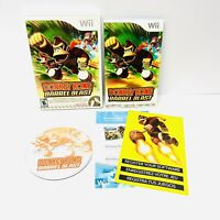 Nintendo Wii - DONKEY KONG BARREL BLAST - Complete with Manual TESTED Working!