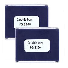 20pcs Dental Supr Carbide Burs Fg330 Friction Grip Midwest Type 720pk