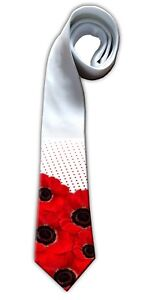 RED POPPY GIFT TIE. Father's Day Gift 10% Donation To The Royal British Legion
