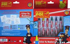 1 X Pat Cartero tarjetas para colorear juego de servicio de entrega especial Lápices De Colores - 7058