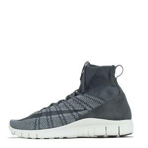 Nike Men's Free Flyknit Mercurial Trainers Shoes Dark Grey