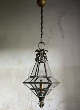"Early 20th Century French Lantern Light. Copper/Brass. Stamped ""FRANCE"""