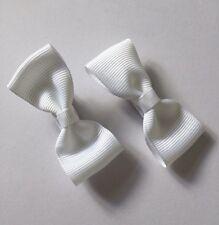 2 Packs Of White hair bow Clips/hair Accesories/School Uniform