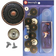17 mm No-Sew Replacement Jean Tack Buttons w/Tool (B7BC9)  8 CT.