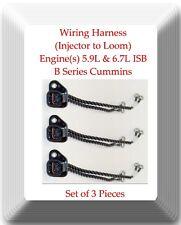 Set of 3 Wiring Harness Injector to Loom Fits:Cummins 5.9L & 6.7L ISB B-Series