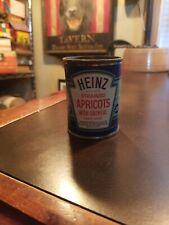 Vintage Heinz 57 Strained Baby Food Paper label Tin Can~ Strained Apricots